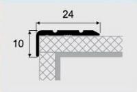 Угловой профиль 12-А алюминий 24х10