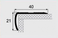 Угловой профиль 14-А алюминий 40х21