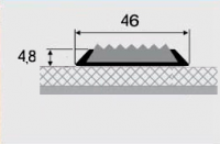 Порожки с противоскользящей вставкой 17-А алюминиевые