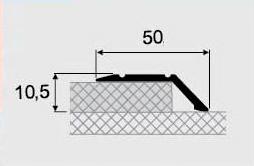 Разноуровневые порожки алюминиевые 18-А, открытый монтаж