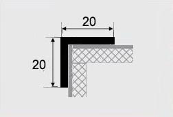 Угловой профиль 20х20 алюминий
