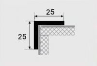 Угловой профиль 25х25 алюминий