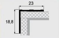 Угловой профиль 3-А алюминий 23х18,8