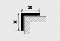 Угловой профиль 30х30 алюминий