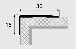 Угловой профиль 4-А алюминий 30х15