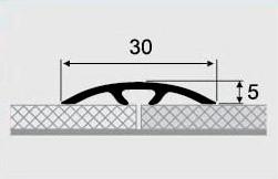 Порожки алюминиевые 6-А ламинированные скрытый монтаж