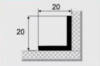 Угловой профиль 9-А алюминий 20х20