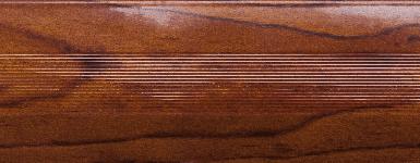 Угловой профиль Черешня 25х25 глянец декор алюминиевый