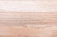 Угловой профиль Дуб беленый 15х15 глянец декор алюминиевый
