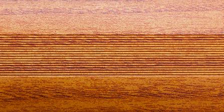 Угловой профиль Дуб рустик 9-А глянец декор алюминиевый