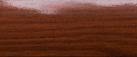 Угловой профиль Дуб темный 20х20 глянец декор алюминиевый