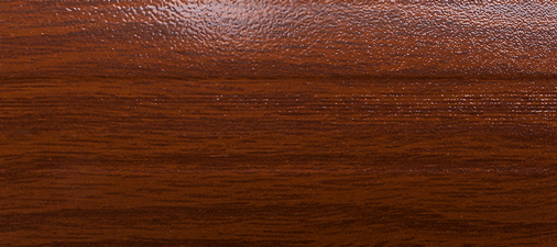 Угловой профиль Дуб темный 14-А (матовый) декор алюминиевый