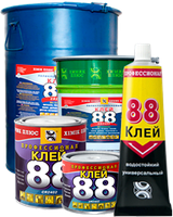 """Клей 88 для на напольных покрытий (350гр) """"Химик-плюс"""""""
