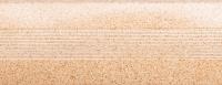 Порожки алюминиевые Песок 19-А (скрытый монтаж) глянцевый декор