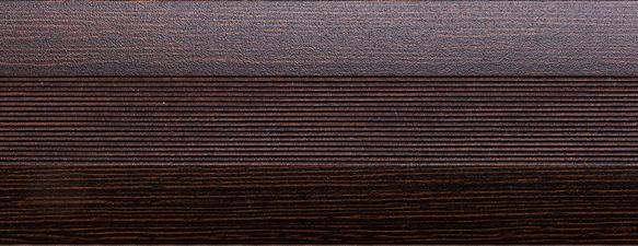 Угловой профиль Венге 20х20 (матовый) декор алюминиевый