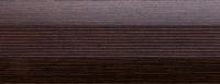 Порожки алюминиевые Венге 19-А (скрытый монтаж) матовый декор