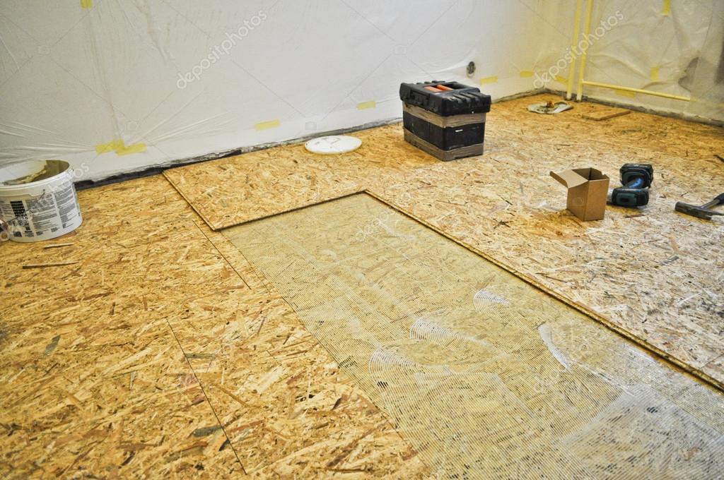 Подготовка деревянного основания